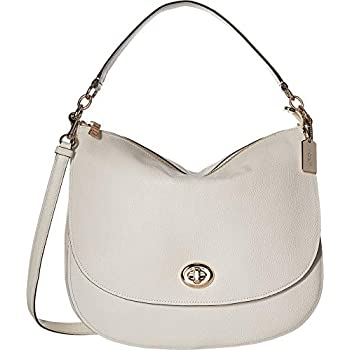 Amazon.com  COACH Women s Pebbled Turnlock Hobo Chalk One Size  Shoes bf411fca832d2