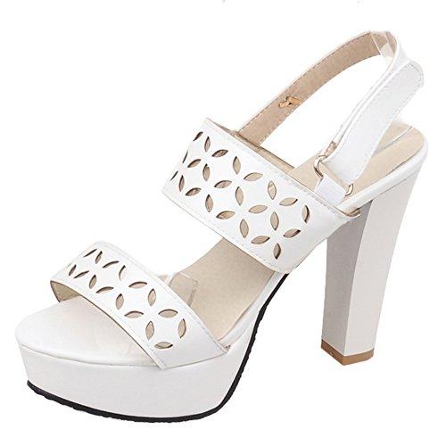 Slingback White Donna Moda Heels Zanpa Sandali gBaqwIOx