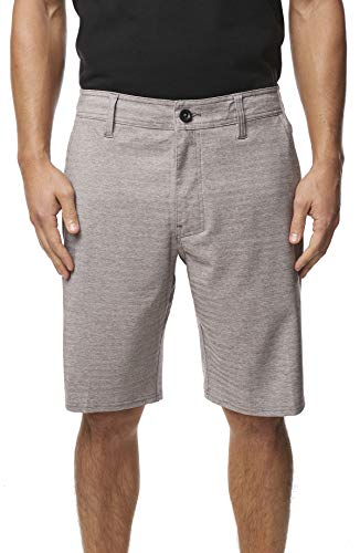 O'Neill Men's Water Resistant Hybrid Walk Short, 20 Inch Outseam (Gun Metal/Locked Herringbone, 38)