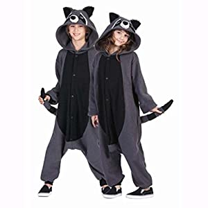 Gray Raccoon Kigurumi Pajamas Onesies Clothing Romper Nightwear