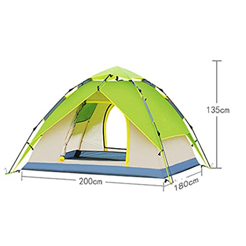Tente Instantanée Camping Tente 3-4 Personne,Orange-L