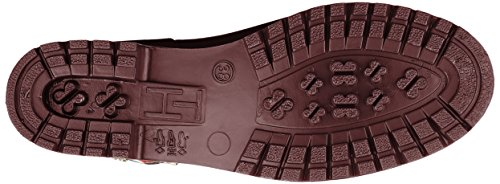 Boot Agua 296 Mujer de Corporate Decadent Belt Chocolate para Botas Hilfiger Rain Rojo Tommy 0qIwn