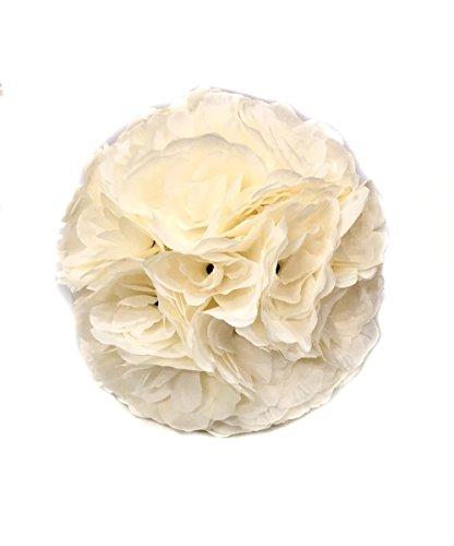 10 Pack 9.84 Inch Romantic Rose Pomander Flower Balls for Wedding Centerpieces Decorations]()