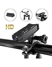 Videocamera sportiva per bicicletta, 1080p, HD, piccola videocamera portatile di sicurezza per esterni, adatta per moto/casco/bicicletta