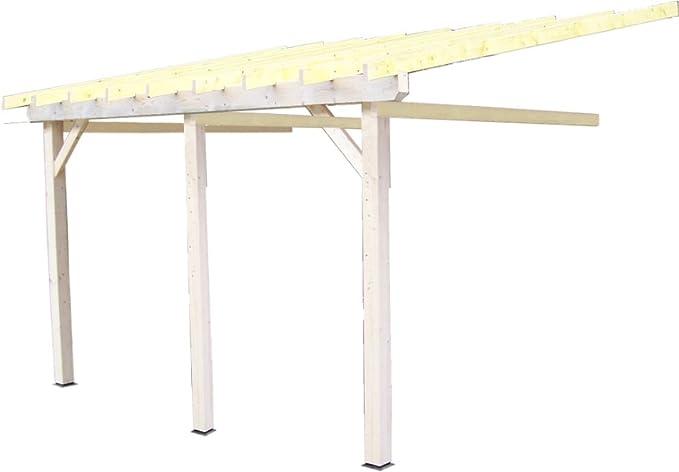 habrita – habrita – Carport doble monopente pared con preparación para Protectora Ligera: Amazon.es: Bricolaje y herramientas