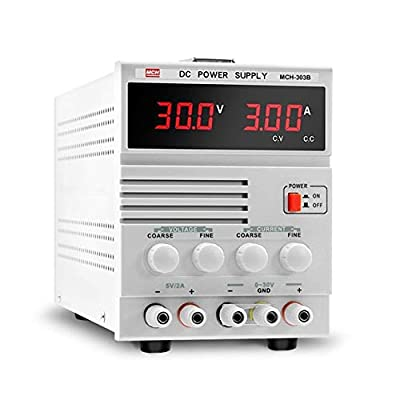 XIAOF-FEN High Precision MCH-303B Adjustable 30V3A DC Power Mobile Digital Display Phone Notebook Repair Linear Power Supply Home Improvement Electrical
