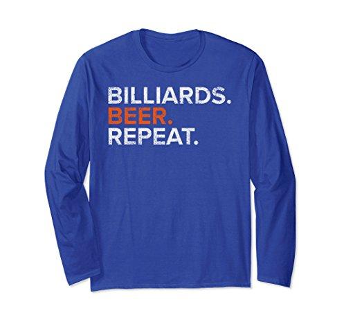 Unisex Vintage Billiards Beer Repeat Funny Long Sleeve T Shirt Medium Royal Blue (Long Repeat Funny Sleeve)