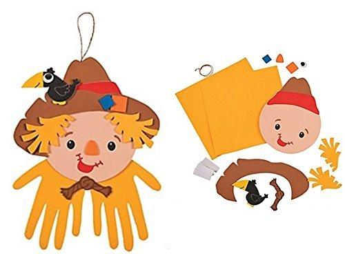 Cute Halloween Crafts For Kids (. 12 - Scarecrow Handprint Craft Kits - Halloween Thanksgiving Craft)