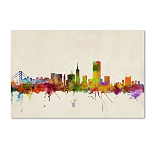 Trademark Fine Art San Francisco, California Canvas Wall Art by Michael  Tompsett, 12 by 19-Inch