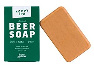 Hoppy IPA BEER SOAP   Cool Guys Gift for Beer Drinkers, Men, Grooming, Father's and Valentine's Day   All Natural + Made in USA   Man Cave Approved