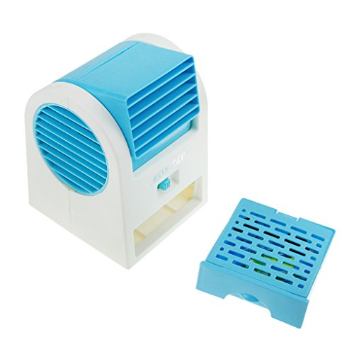 Greenery Portable Office Home Outdoor Travel Use Drawer Style Perfumes Smell Desktop Bladeless Mini Fan Air Conditioner Dual-use USB/Battery Powered Summer Cooling Fan Aroma Diffuser Blue by BXT (Image #5)