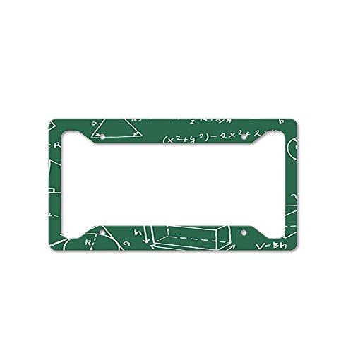 Math Logo Shapes Auto Car License Plate Frame Tag Holder 4 Hole