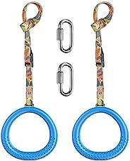 BeneLabel 2pc Ninja Rings with Adjustable Cam Buckle, Gymnastics Rings, utdoor for Ninja Line Swing Set Access