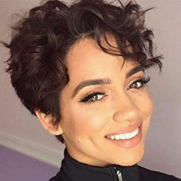 Boycut Sexy Curly Pixie Short