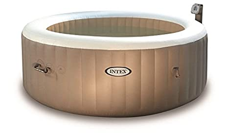 INTEX SPA Hinchable PureSpa Burbujas 4 Personas + Foco ...
