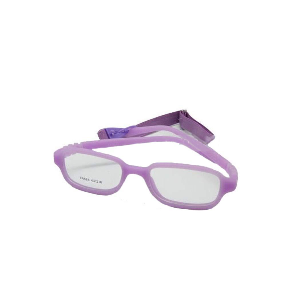 7ab7097c9e EnzoDate niños vidrios ópticos marco con correa seguro flexible tamaño  43/16 Monturas de gafas