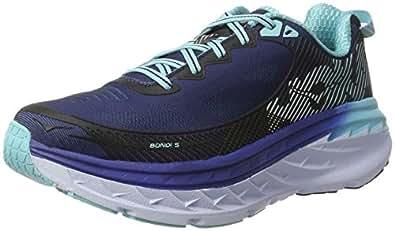 HOKA ONE ONE Women's Bondi 5 Road Running Shoe,Medieval Blue/Blue Radiance,US 5