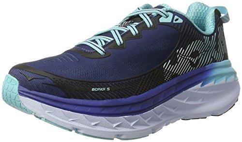 Hoka Een Een Hoka Bondi 5 Womens Loopschoenen - Ss17 Middeleeuwse Blauw / Blauw Uitstraling