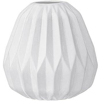 Amazon Small White Ceramic Fluted Vase Home Kitchen