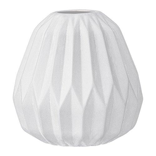 Small White Ceramic Fluted Vase