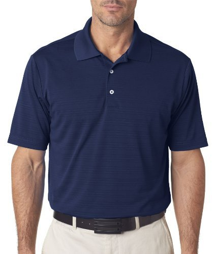 adidas Golf Mens ClimaLite Textured Short-Sleeve Polo A161 -NAVY (Adidas Polo Shirt)
