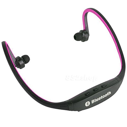 Refurbished Operation (Bluetooth Wireless Headset Stereo Headphone Earphone Handfree Sport Universal (Hot Pink))