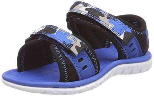 Clarks Surfing Wave, Sandalias de Talón Abierto Para Niños Azul (Blue Combi)