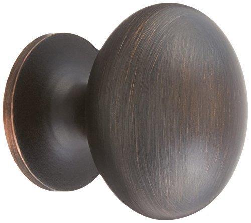 Amerock BP53018-ORB Allison Oil Rubbed Bronze Oval Egg Cabinet Hardware Knob - 1-3/8'' Long x 1'' Wide, 25 Pack by Amerock by Amerock