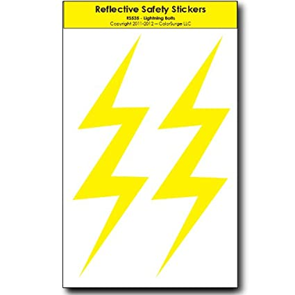 amazon com lightning bolts reflective decals automotive