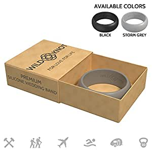 Amazon Com Silicone Wedding Rings For Men High Performance Rubber Wedding Bands Safe