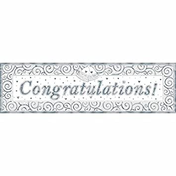 Amazon Com Congratulations Metallic Giant Letter Banner Wedding