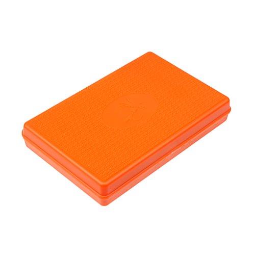 MagiDeal Slim Colorful Fly Fishing Tackle Box Lightweight Easy Grip/Slit Foam Insert - Orange, 15.6x10.8x2.8cm/6.1x4.3x1.1inch