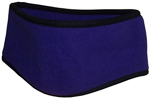 Price comparison product image N'Ice Caps Kids 2 Ply Micro Fleece Earlap Headband With Stretch Binding (One size fits 4yrs and up, purple)