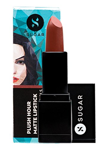 Lipstick Brown Sugar (SUGAR Cosmetics Plush Hour Matte Lipstick 04 Powerbuff Girls (Muted Reddish Brown), 3.9 g)