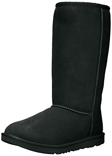 UGG Kids K Classic Tall II Pull-on Boot, Black, 4 M US Big Kid -
