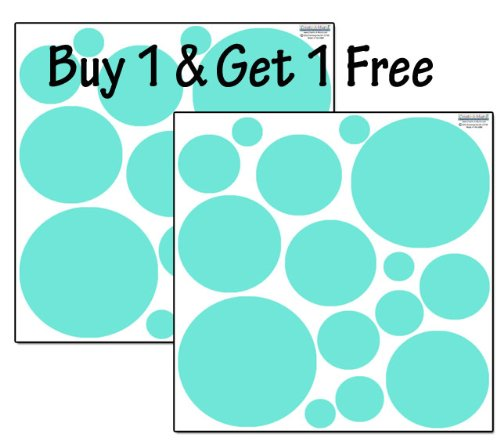 Polka Dot Wall Decals- Mint Green Peel & Stick Appliques' *BUY 1 GET 1 FREE*
