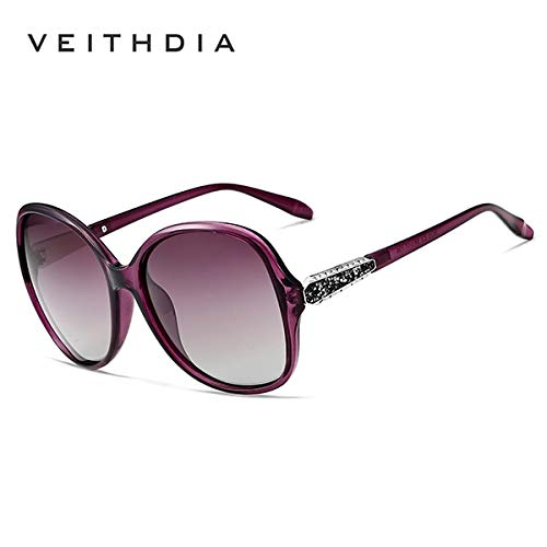 Purple Retro Sun Glasses Polarized Luxury Ladies Brand Designer Women Sunglasses Eyewear de sol Feminino V3025  (Lenses color  Purple)