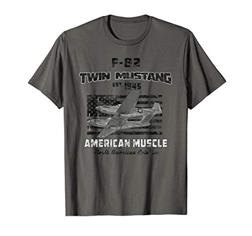 F-82 Twin Mustang Airplane American Muscle Vintage T-Shirt