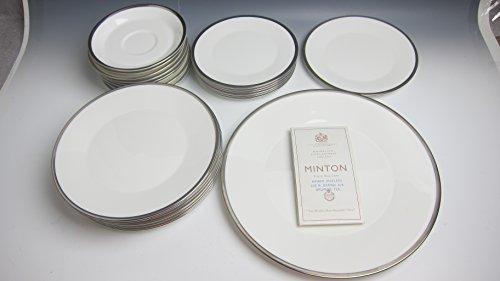 Lot of 25 pcs Minton China PALATINE Plates: Dinner, Salad, Bread ()