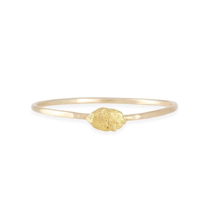 82734e4ba3dad Amazon.com: BLAIR LAUREN BROWN - Tiny Gold Nugget Ring: Jewelry