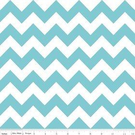 Chevron Stripe Aqua Flannel Fabric SKU F320-20 Riley Blake Designs