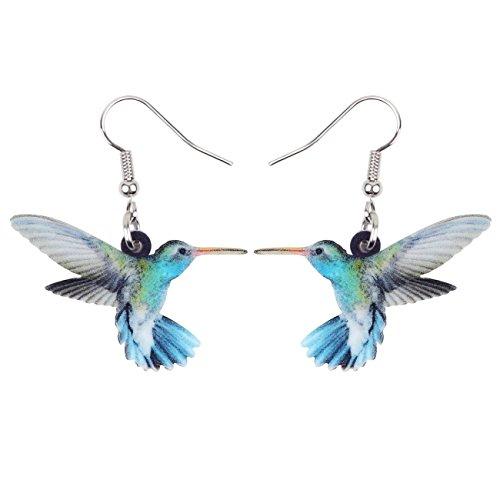 Bonsny Acrylic Drop Dangle Hummingbird Bird Earrings Jewelry For Women Girls Kids Gift Charms from BONSNY