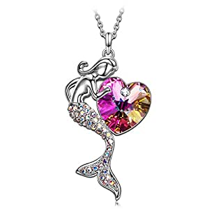 SIVERY 'Little Mermaid' Necklace with Swarovski Crystal