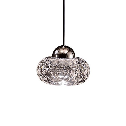 WAC Lighting MP-LED334-CL/CH Gem-LED Pendant, Chrome Finish with Clear Glass Clear Glass Monopoint Pendant