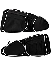 J&C RZR Side Door Bags Front Doors Side Storage Bags with Knee Protection Pad UTV for RZR XP (Black)