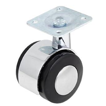 eDealMax a13090700ux0052 1.6 Negro de Plata del tono Oficina Superior cuadrada Placa giratoria de la rueda