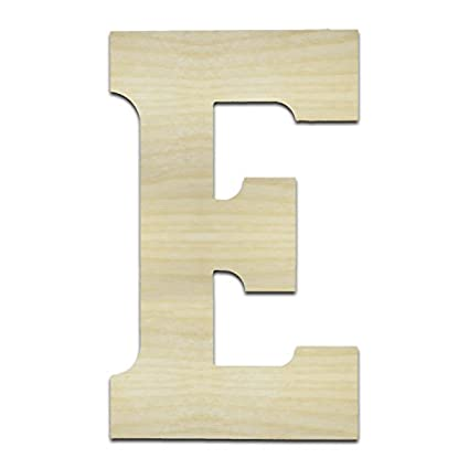 Unfinished Wooden Letters E Epsilon 12 Tall Large Wall Wood Letters English Greek Numbers Punctuation Letters For Home Bedroom Office