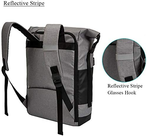 Lekesky Rolltop Laptop Backpack 156 Inch Minimalist Bike Travel Backpack with Waterproof and Anti