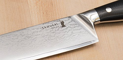 Professional Chef Knife: Japanese Damascus VG10 Steel, 9.5 inch Razor Sharp Blade With Protective Sheath. Slices 2,500 pounds of Food and Stays Sharp. by Kyoto Knives (Image #8)