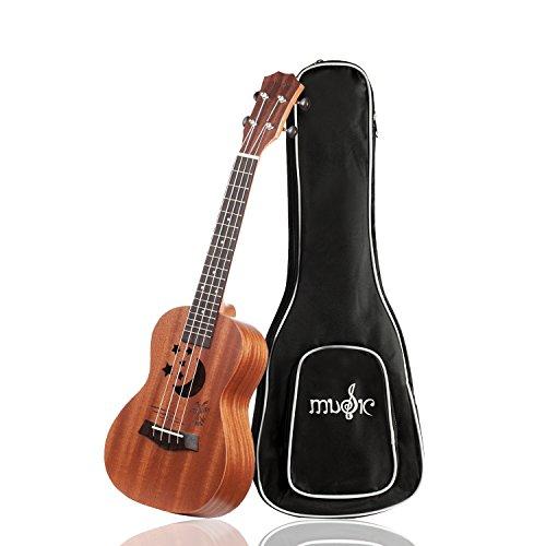 Coconut Ukulele - Soprano Ukulele Ukeleles for Kids Star & Moon Designed Ukelele with Gig Bag Kids Guitar Matte Finish Ukulele